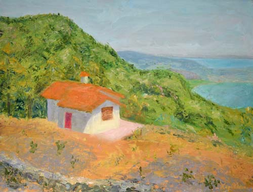Cottage at Megalochori, 16 x 21, SOLD