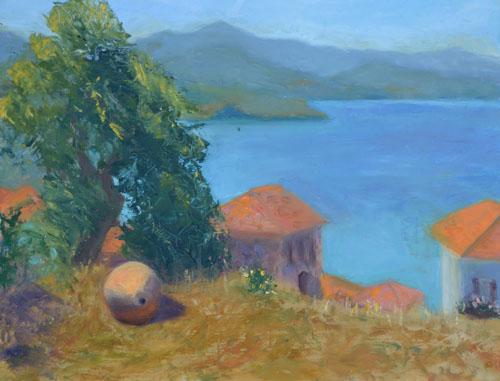 Molyvos Urn, 12 x 16, SOLD