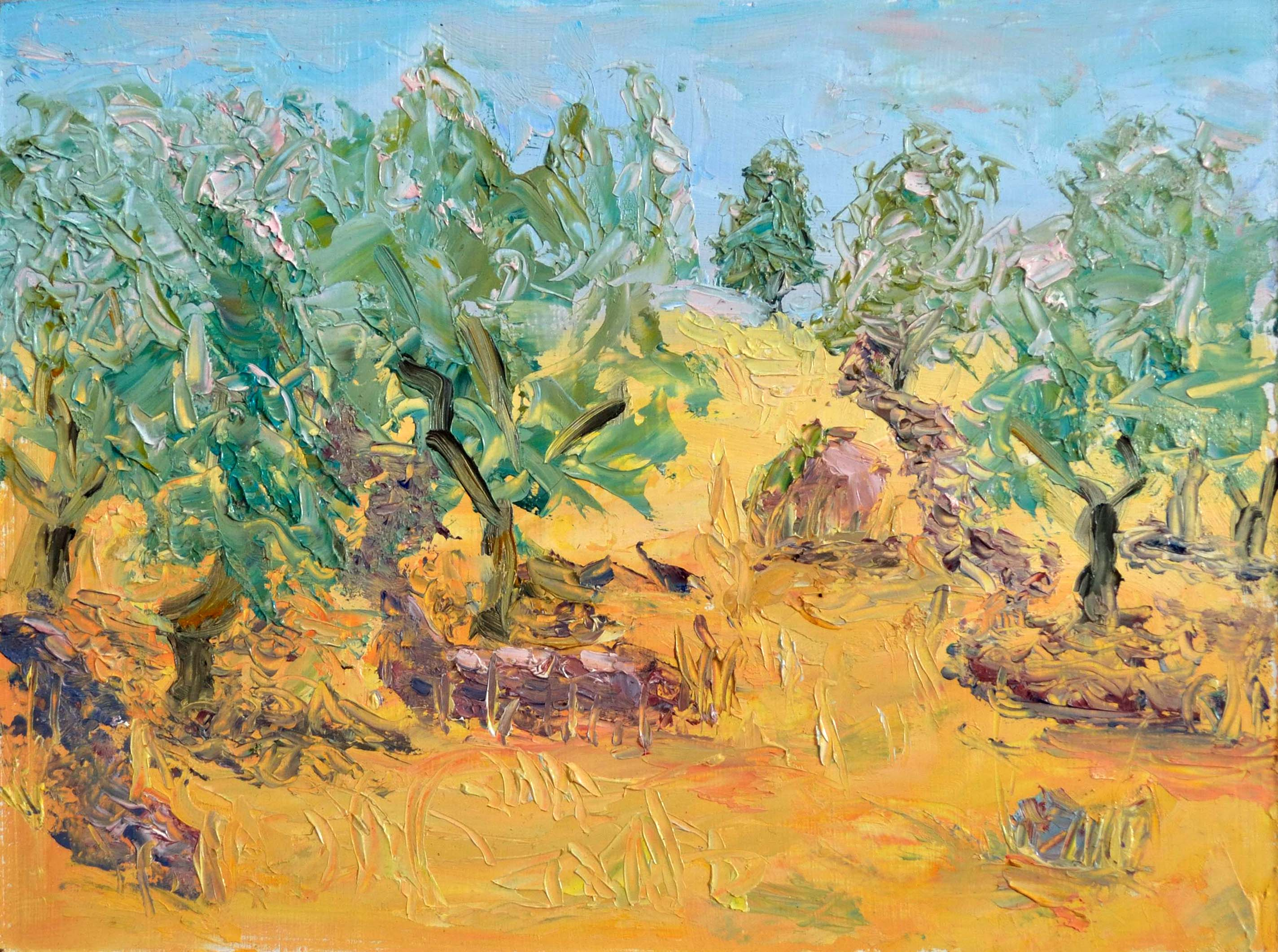 Olive Grove at New Kidonies, 6 x 8, SOLD